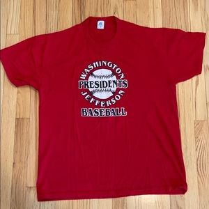 Washington & Jefferson Baseball T-Shirt XL